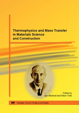 Abbildung von Medved / Trn?k   Thermophysics and Mass Transfer in Materials Science and Construction   2015   Collection of selected, peer r...   Volume 1126