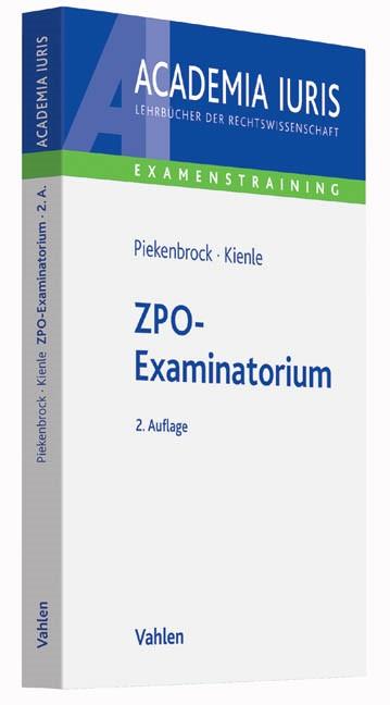 ZPO-Examinatorium | Piekenbrock / Kienle | 2. Auflage, 2016 | Buch (Cover)
