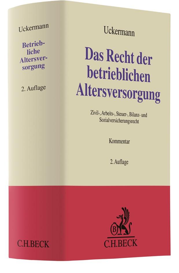 Das Recht der betrieblichen Altersversorgung | Uckermann / Fuhrmanns | 2. Auflage, 2019 | Buch (Cover)