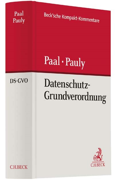 Datenschutz-Grundverordnung: DS-GVO   Paal / Pauly, 2016   Buch (Cover)