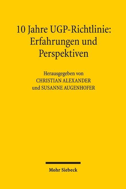 10 Jahre UGP-Richtlinie, 2016 | Buch (Cover)