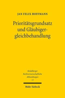 Abbildung von Hoffmann   Prioritätsgrundsatz und Gläubigergleichbehandlung   2016   13