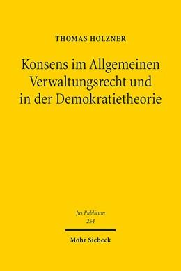 Abbildung von Holzner   Konsens im Allgemeinen Verwaltungsrecht und in der Demokratietheorie   2016   Untersuchungen zur Phänomenolo...   254