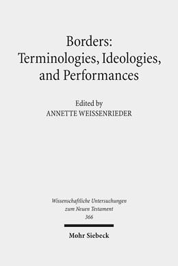 Abbildung von Weissenrieder | Borders: Terminologies, Ideologies, and Performances | 2016 | 366