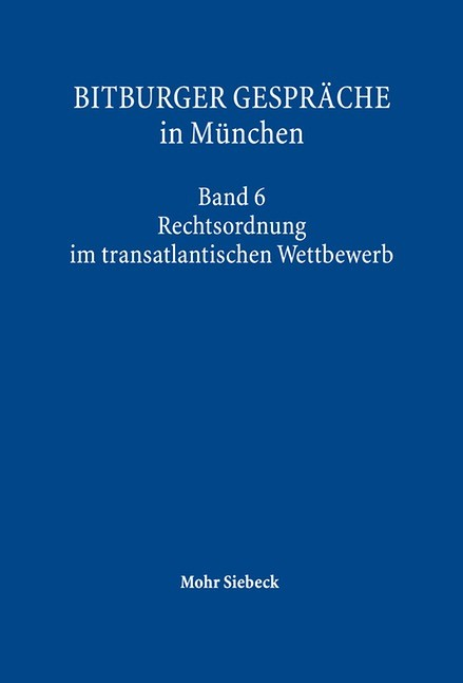 Abbildung von Gesellschaft f. Rechtspol. Trier / Institut f. Rechtspolitik, Univ. Trier | Bitburger Gespräche in München | 2016