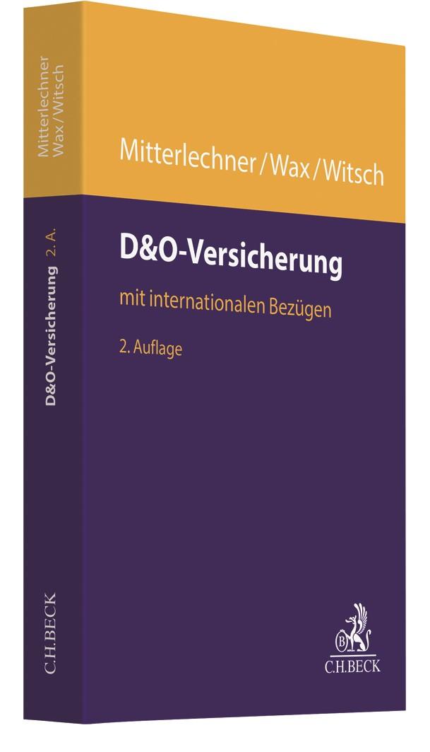 D&O-Versicherung | Mitterlechner / Wax / Witsch | 2. Auflage, 2019 | Buch (Cover)