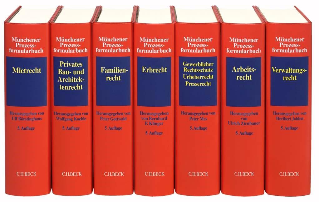 Münchener Prozessformularbuch   5. Auflage, 2018   Buch (Cover)
