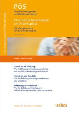 Abbildung von Wiessmann / Gourmelon   Psychische Belastungen am Arbeitsplatz   2016   2016   Handlungsansätze für die Perso...