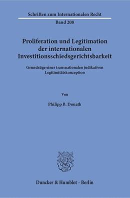 Abbildung von Donath | Proliferation und Legitimation der internationalen Investitionsschiedsgerichtsbarkeit | 2016 | Grundzüge einer transnationale... | 208