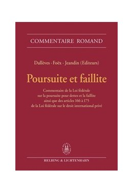 Abbildung von Poursuite et faillite | 2005 | Commentaire de la Loi fédérale...