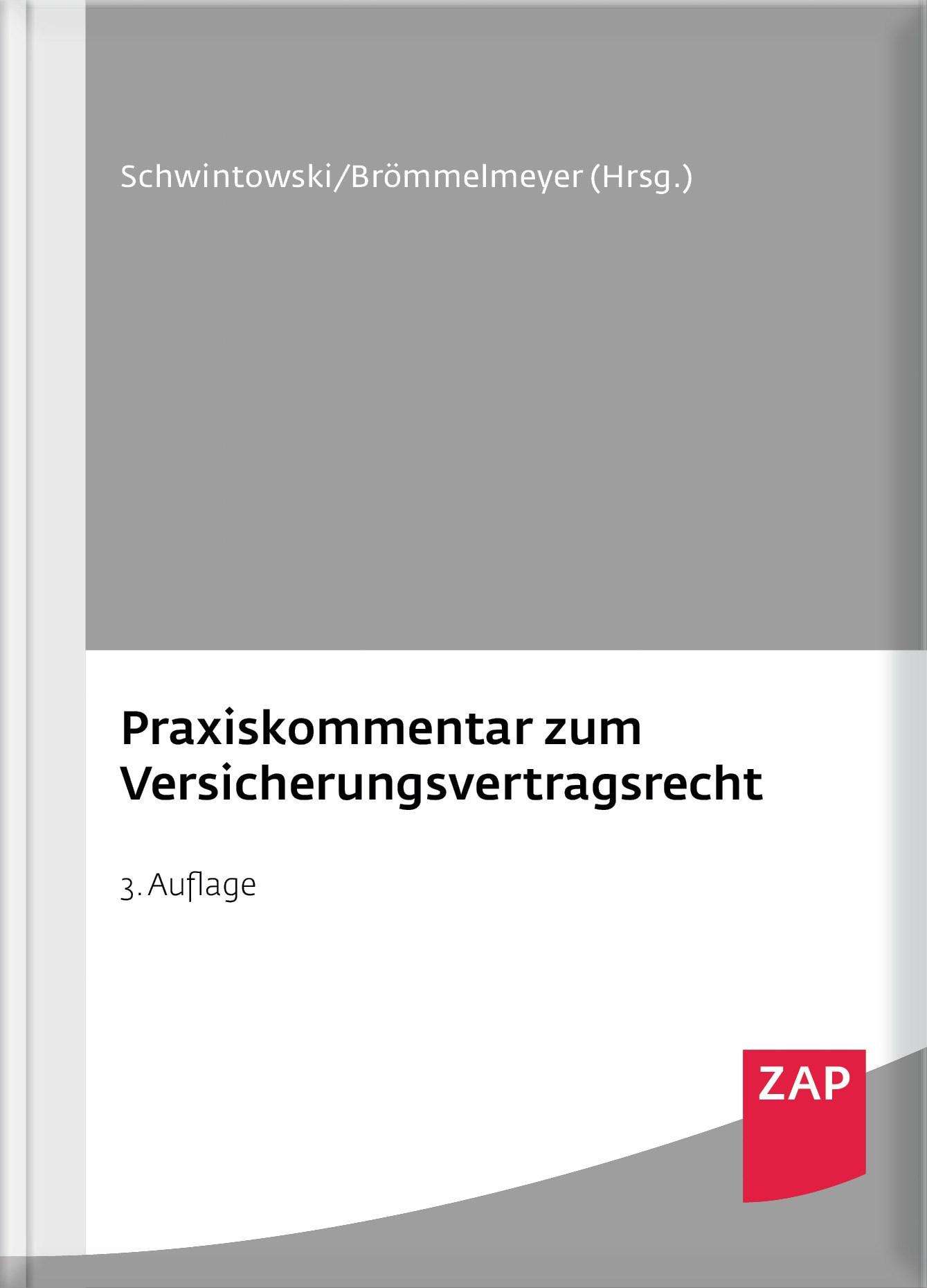 Abbildung von Schwintowski / Brömmelmeyer (Hrsg.) | Praxiskommentar zum Versicherungsvertragsrecht | 3. Auflage | 2017
