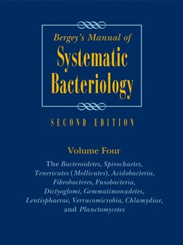 Abbildung von Krieg / Ludwig / Whitman / Hedlund / Paster / Staley / Ward / Brown | Bergey's Manual of Systematic Bacteriology | 2nd ed. 2010 | 2010 | Volume 4: The Bacteroidetes, S...