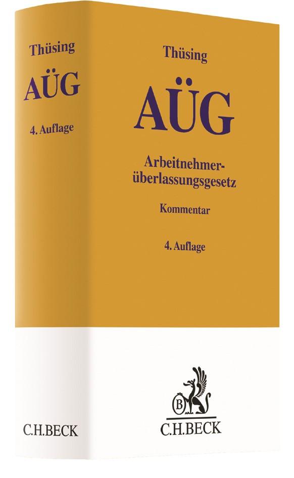 Arbeitnehmerüberlassungsgesetz: AÜG | Thüsing | 4. Auflage, 2018 | Buch (Cover)