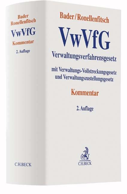 Verwaltungsverfahrensgesetz: VwVfG | Bader / Ronellenfitsch | 2. Auflage, 2016 | Buch (Cover)
