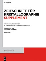 24th Annual Conference of the German Crystallographic Society, March 14–17, 2016, Stuttgart, Germany, 2016 | Buch (Cover)