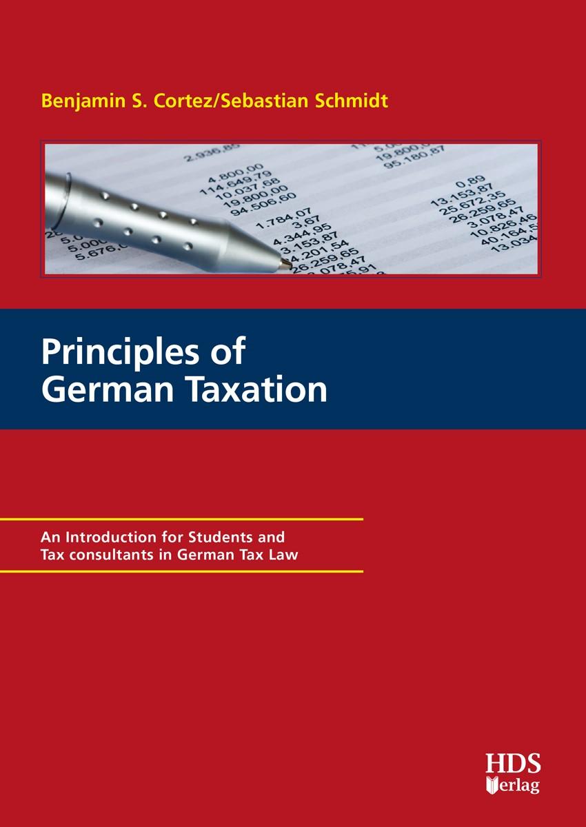 Principles of German Taxation | Cortez / Schmidt, 2019 | Buch (Cover)