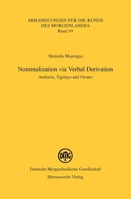 Abbildung von Mazengia   Nominalization via Verbal Derivation   2015   Amharic, Tigrinya and Oromo