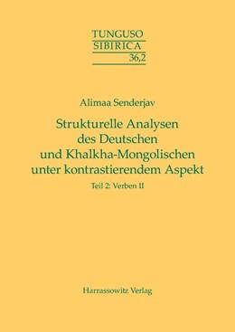 Abbildung von Senderjav | Strukturelle Analysen des Deutschen und Khalkha-Mongolischen unter kontrastierendem Aspekt | 1. Auflage | 2015 | beck-shop.de