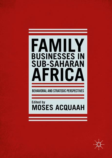 Family Businesses in Sub-Saharan Africa | Acquaah | 1st ed. 2016, 2016 | Buch (Cover)