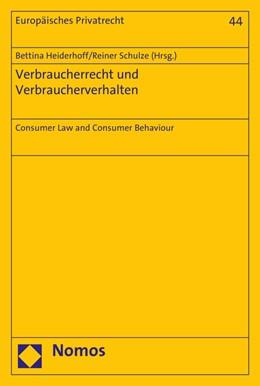 Abbildung von Heiderhoff / Schulze | Verbraucherrecht und Verbraucherverhalten | 1. Auflage | 2016 | 44 | beck-shop.de
