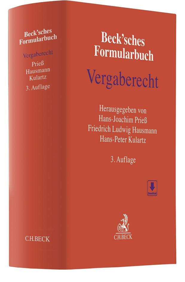 Beck'sches Formularbuch Vergaberecht | 3., überarbeitete Auflage, 2018 | Buch (Cover)