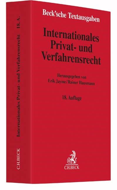 Internationales Privat- und Verfahrensrecht   Jayme / Hausmann   18., neubearbeitete und erweiterte Auflage, 2016   Buch (Cover)