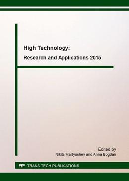 "Abbildung von Martyushev / Bogdan   High Technology: Research and Applications 2015   2016   The Proceedings ""High Technolo...   Volume 685"