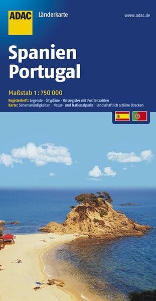 ADAC LänderKarte Spanien, Portugal 1 : 750 000 | 8. Auflage, Laufzeit bis 2020, 2018 (Cover)