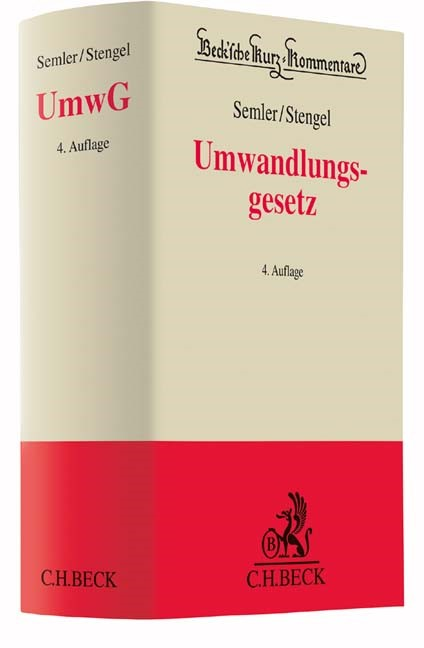 Umwandlungsgesetz: UmwG | Semler / Stengel | 4. Auflage, 2017 | Buch (Cover)