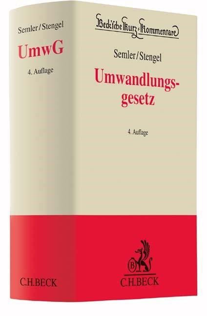 Abbildung von Semler / Stengel | Umwandlungsgesetz: UmwG | 4. Auflage | 2017