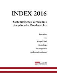 Abbildung von Index Bundesrecht 2016 | 2016
