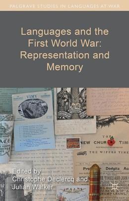 Abbildung von Languages and the First World War: Representation and Memory | 1. Auflage | 2016 | beck-shop.de
