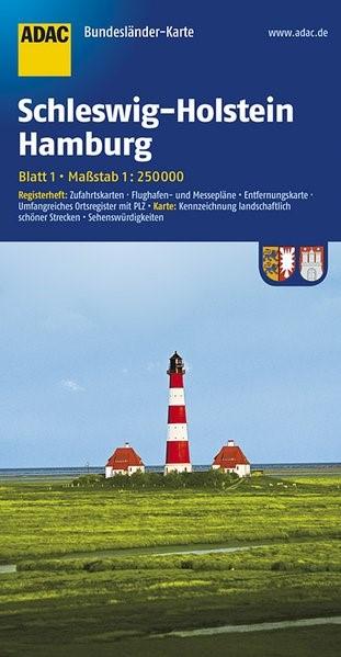 Abbildung von ADAC BundesländerKarte Deutschland 01. Schleswig-Holstein und Hamburg 1 : 250 000   4. Auflage   2017