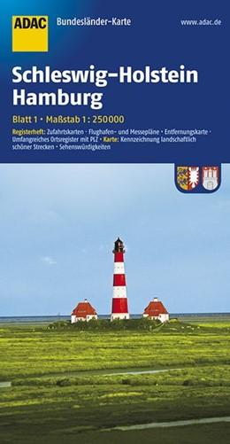 Abbildung von ADAC BundesländerKarte Deutschland 01. Schleswig-Holstein und Hamburg 1 : 250 000 | 4. Auflage | 2017 | Registerheft: Zufahrtskarten -...