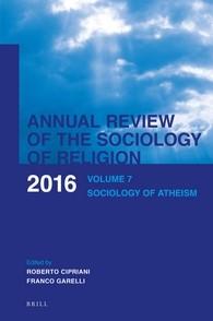 Abbildung von Cipriani / Garelli | Annual Review of the Sociology of Religion | 2016