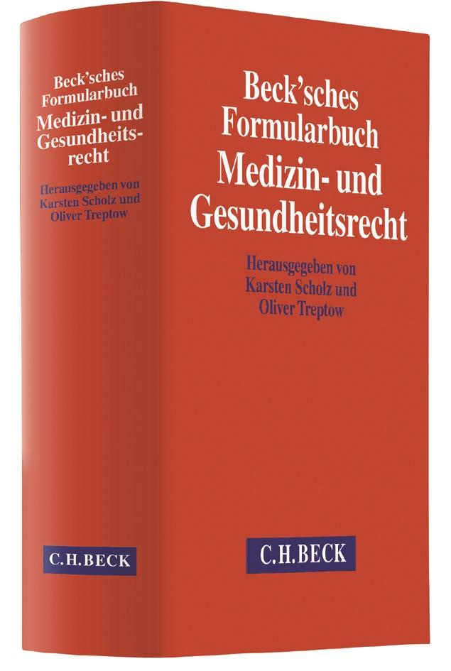 Beck'sches Formularbuch Medizin- und Gesundheitsrecht, 2017 | Buch (Cover)
