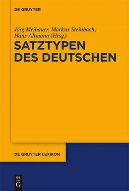 Abbildung von Meibauer / Steinbach / Altmann | Satztypen des Deutschen | 2016