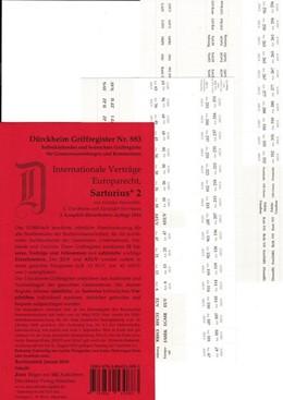 Abbildung von Dürckheim-Register - Internationale Verträge, Europarecht (Sartorius II) | 5. Auflage | 2016 | beck-shop.de