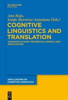 Abbildung von Rojo / Ibarretxe-Antuñano | Cognitive Linguistics and Translation | 1. Auflage | 2016 | beck-shop.de