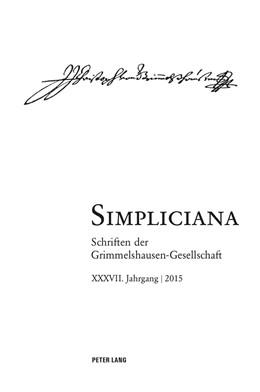 Abbildung von Simpliciana   2016   Schriften der Grimmelshausen-G...   37