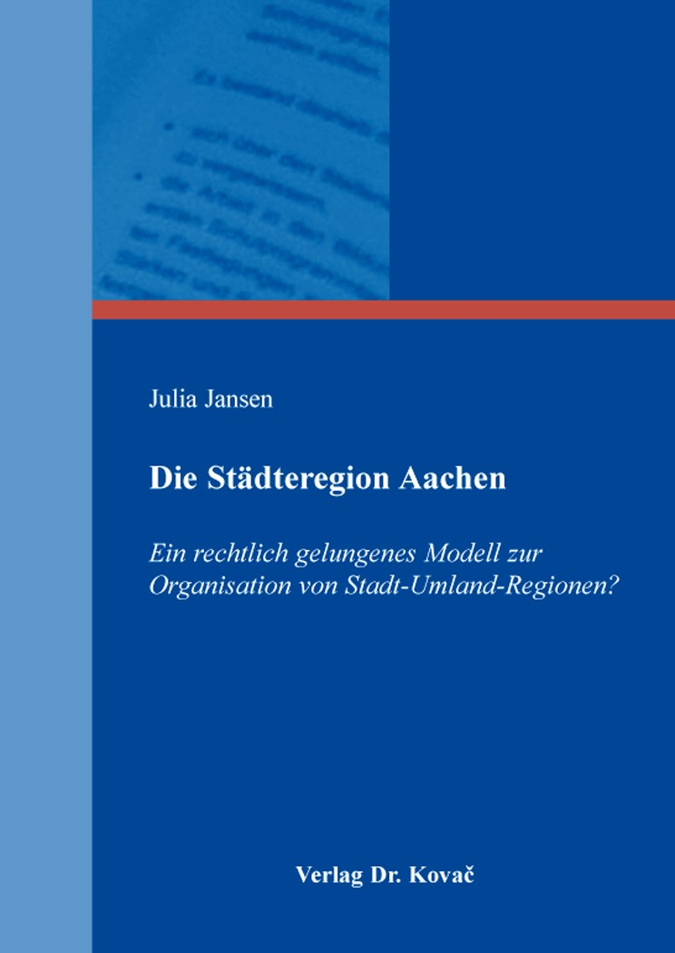 Abbildung von Jansen | Die Städteregion Aachen | 2016