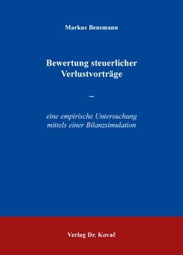 Abbildung von Bensmann | Bewertung steuerlicher Verlustvorträge | 2016 | – eine empirische Untersuchung... | 107