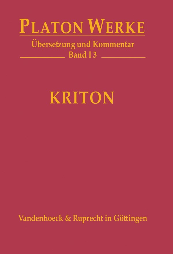 Kriton | / Bernard, 2016 | Buch (Cover)