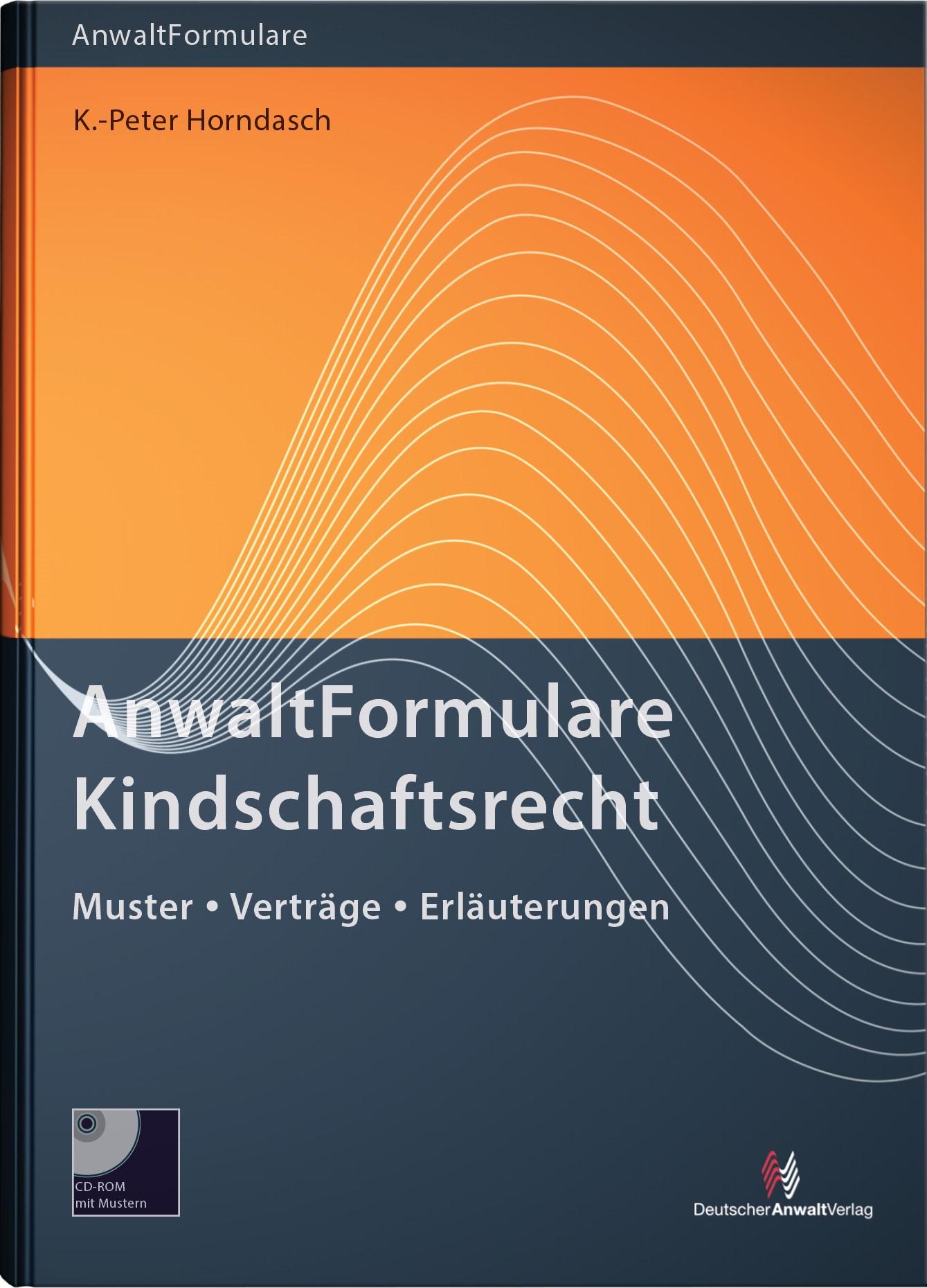 AnwaltFormulare Kindschaftsrecht | Horndasch, 2016 | Buch (Cover)
