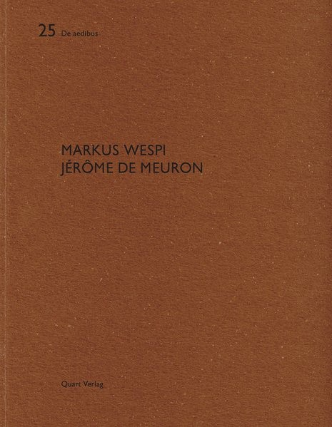 Markus Wespi Jérôme de Meuron | Adam / Wirz, 2008 | Buch (Cover)