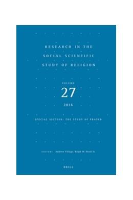 Abbildung von Village / Hood | Research in the Social Scientific Study of Religion, Volume 27 | 2016