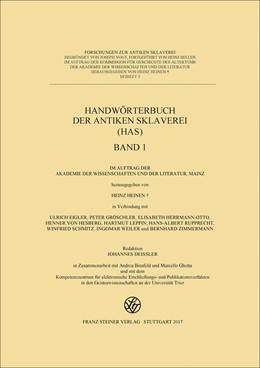 Abbildung von Heinen / Eigler | Handwörterbuch der antiken Sklaverei (HAS), Buchausgabe | 1. Auflage | 2017 | 5 | beck-shop.de