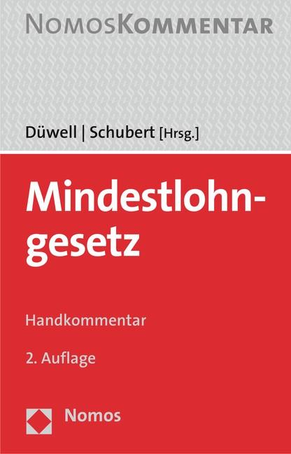 Mindestlohngesetz | Düwell / Schubert (Hrsg.) | 2. Auflage, 2016 | Buch (Cover)