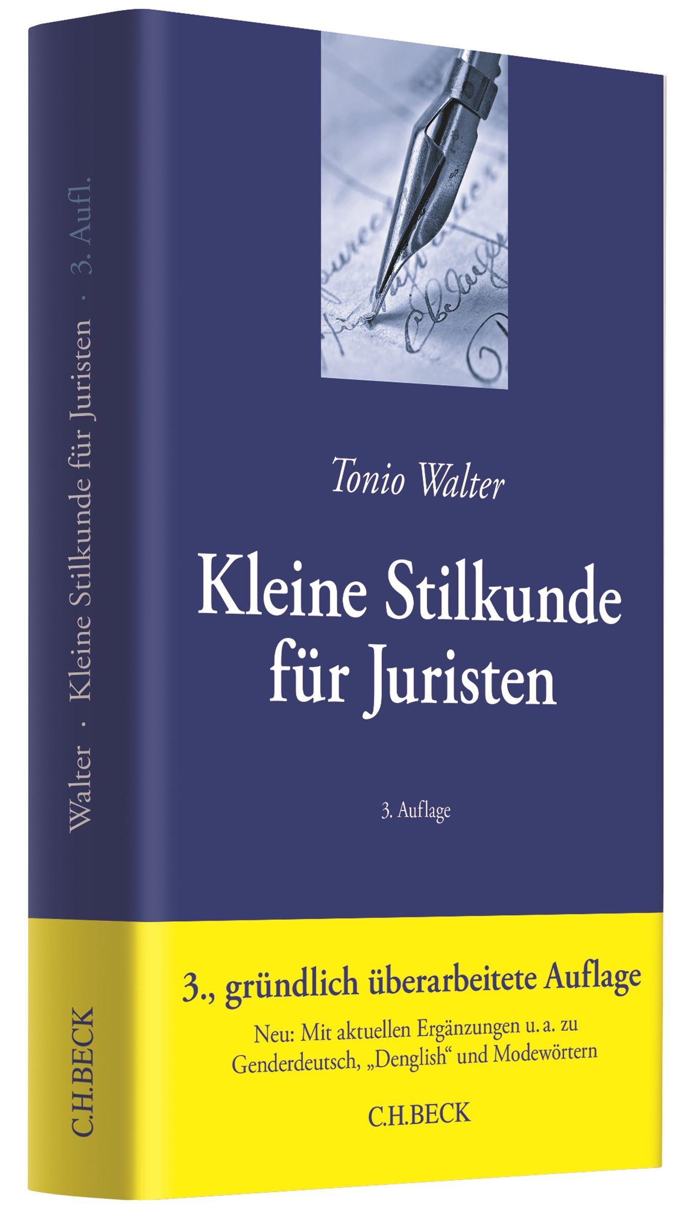 Kleine Stilkunde für Juristen | Walter | 3., gründlich überarbeitete Auflage, 2017 | Buch (Cover)
