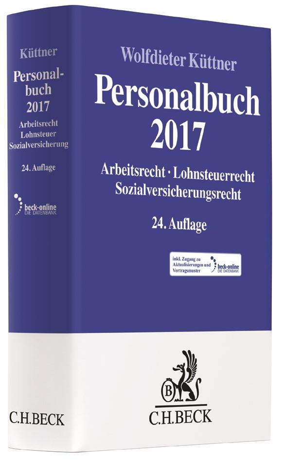 Personalbuch 2017 | Küttner | 24., vollständig neubearbeitete Auflage, 2017 (Cover)